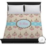 Kissing Birds Duvet Cover (Personalized)