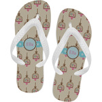 Kissing Birds Flip Flops (Personalized)