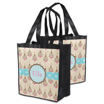 Kissing Birds Grocery Bag (Personalized)
