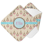 Kissing Birds Hooded Baby Towel (Personalized)