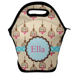 Kissing Birds Lunch Bag w/ Name or Text