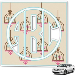 Kissing Birds Monogram Car Decal (Personalized)