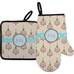 Kissing Birds Oven Mitt & Pot Holder (Personalized)