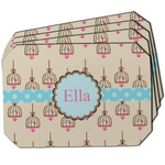 Kissing Birds Dining Table Mat - Octagon w/ Name or Text