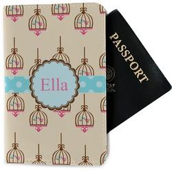 Kissing Birds Passport Holder - Fabric (Personalized)
