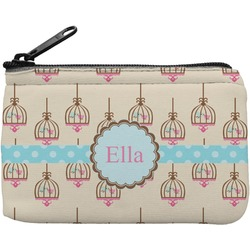 Kissing Birds Rectangular Coin Purse (Personalized)