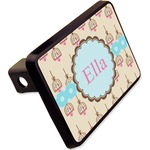 """Kissing Birds Rectangular Trailer Hitch Cover - 2"""" (Personalized)"""