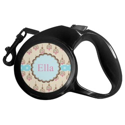 Kissing Birds Retractable Dog Leash (Personalized)