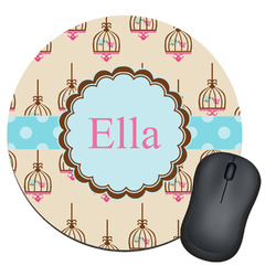 Kissing Birds Round Mouse Pad (Personalized)