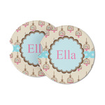 Kissing Birds Sandstone Car Coasters (Personalized)