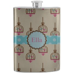 Kissing Birds Stainless Steel Flask (Personalized)