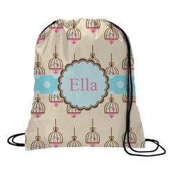 Kissing Birds Drawstring Backpack (Personalized)