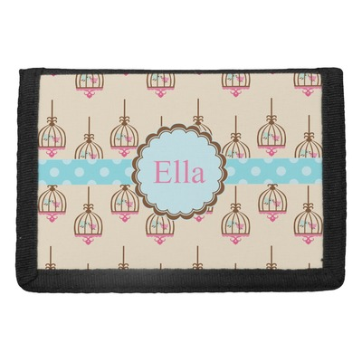 Kissing Birds Trifold Wallet (Personalized)