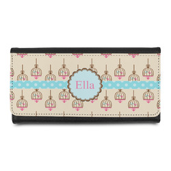 Kissing Birds Leatherette Ladies Wallet (Personalized)