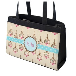 Kissing Birds Zippered Everyday Tote (Personalized)