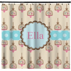 Kissing Birds Shower Curtain (Personalized)