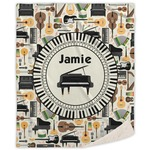 Musical Instruments Sherpa Throw Blanket (Personalized)