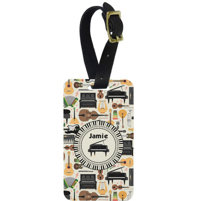 Musical Instruments Metal Luggage Tag w/ Name or Text