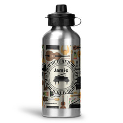 Musical Instruments Water Bottle - Aluminum - 20 oz (Personalized)
