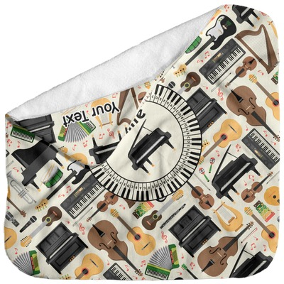 Musical Instruments Baby Hooded Towel (Personalized)