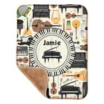 "Musical Instruments Sherpa Baby Blanket 30"" x 40"" (Personalized)"