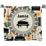 Musical Instruments Full Print Bath Towel (Personalized)