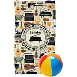 Musical Instruments Beach Towel (Personalized)