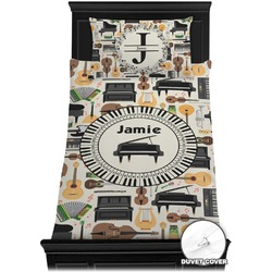 Musical Instruments Duvet Cover Set - Twin (Personalized)