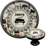 Musical Instruments Cabinet Knob (Black) (Personalized)