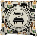 Musical Instruments Burlap Throw Pillow (Personalized)