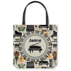 """Musical Instruments Canvas Tote Bag - Large - 18""""x18"""" (Personalized)"""