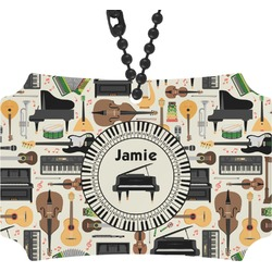 Musical Instruments Rear View Mirror Ornament (Personalized)