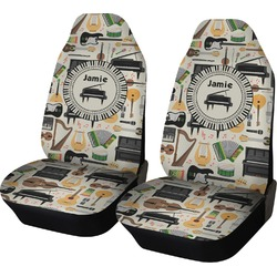 Musical Instruments Car Seat Covers (Set of Two) (Personalized)