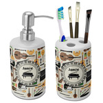 Musical Instruments Bathroom Accessories Set (Ceramic) (Personalized)