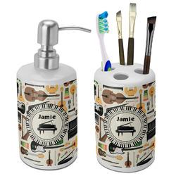 Musical Instruments Bathroom Accessories Set (Ceramic) (Personalized)