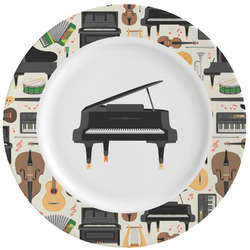 Musical Instruments Ceramic Dinner Plates (Set of 4) (Personalized)