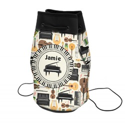 Musical Instruments Neoprene Drawstring Backpack (Personalized)