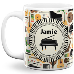 Musical Instruments 11 Oz Coffee Mug - White (Personalized)