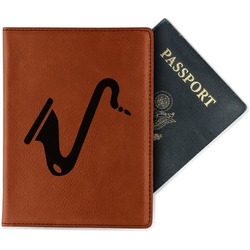 Musical Instruments Leatherette Passport Holder (Personalized)