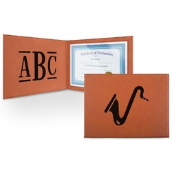 Musical Instruments Leatherette Certificate Holder (Personalized)