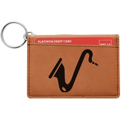 Musical Instruments Leatherette Keychain ID Holder (Personalized)