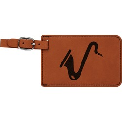 Musical Instruments Leatherette Luggage Tag (Personalized)