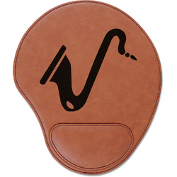 Musical Instruments Leatherette Mouse Pad with Wrist Support (Personalized)