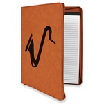 Musical Instruments Leatherette Zipper Portfolio with Notepad (Personalized)