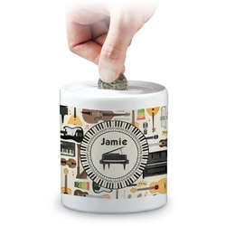 Musical Instruments Coin Bank (Personalized)