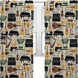 Musical Instruments Curtains (2 Panels Per Set) (Personalized)
