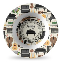 Musical Instruments Plastic Bowl - Microwave Safe - Composite Polymer (Personalized)