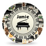 Musical Instruments Microwave Safe Plastic Plate - Composite Polymer (Personalized)