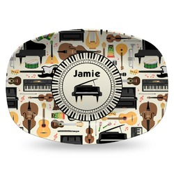 Musical Instruments Plastic Platter - Microwave & Oven Safe Composite Polymer (Personalized)