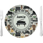 """Musical Instruments Glass Lunch / Dinner Plates 10"""" - Single or Set (Personalized)"""
